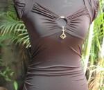 Black keyhole blouse